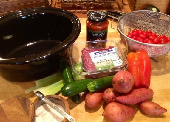 A simple handful of ingredients to make a wonderful stew.