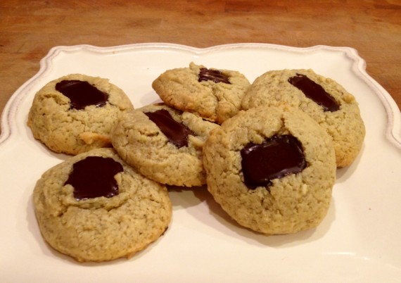 Cashew Butter Chocolate Drop Cookies (Paleo. Gluten Free.)