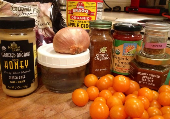 Ingredients for Cherry BBQ Sauce
