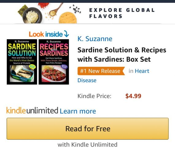 Boxed Set - Sardine Solution & Recipes with Sardines books