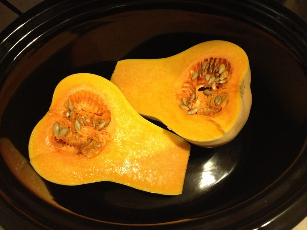 Here's how you cook butternut squash in a slow cooker.