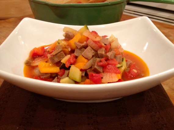 Grass Fed Beef Tongue Ratatouille
