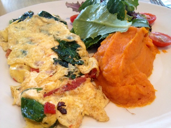 Blue Dog Cafe (NYC) farm fresh omelet (no. 1 option)