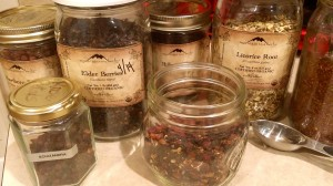 Dried fruits and herbs for Beautiful Berry Nourishing Heart Tea #HerbalMedicine