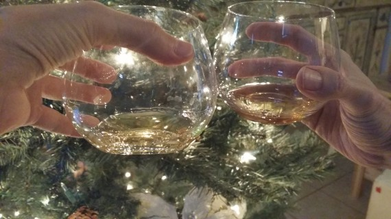 A 2014 Drambuie Christmas Toast with my husband.