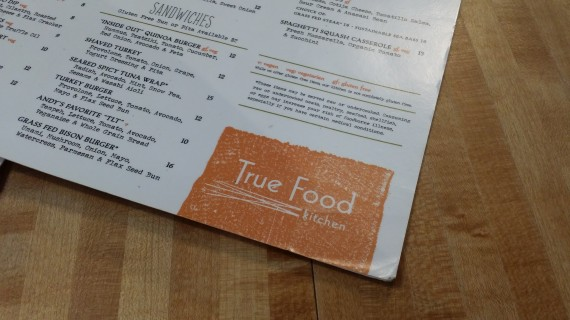 True Food - a pretty darn decent place for a quality meal. #RealFood