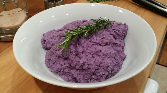 Rosemary Infused Purple Cauliflower Mash