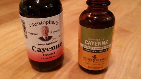 Cayenne tincture comparison: Dr. Christopher vs HerbPharm