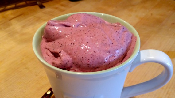 I made this ice cream in about 60-seconds.