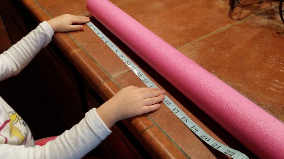 Measure 12-inches (let your kiddo help)