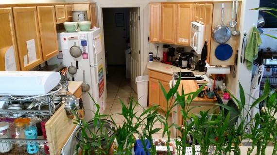 Bird's eye view of my cozy kitchen.