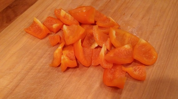 Oops, forgot the orange bell pepper.