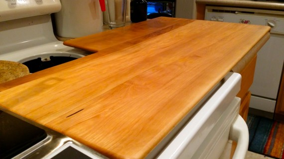 Beautiful custom cutting board Greg made for me.