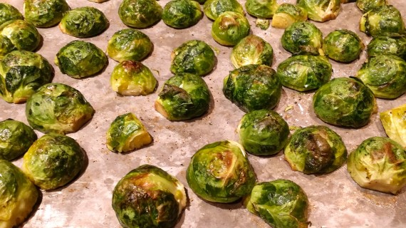 Roasted brussels sprouts - aren't they cute?