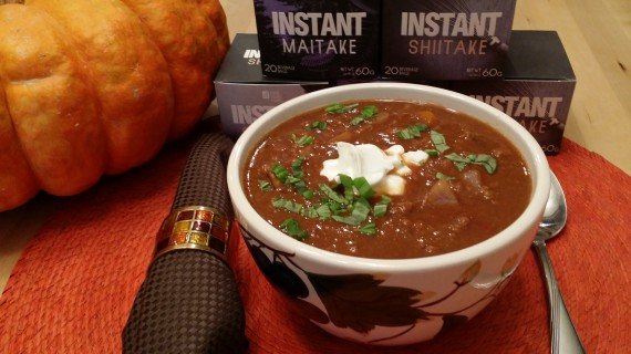 Pumpkin Chili with Four Sigma Foods Instant Medicinal Mushrooms