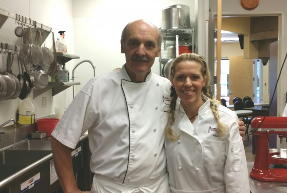 Chef Pascal and me. He's funny and French.