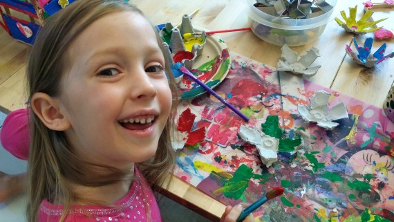 Happy to be painting.