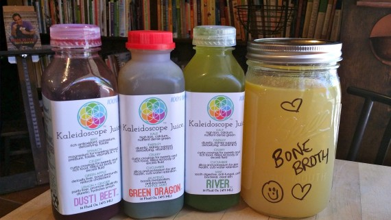 Nourishing Cleanse of organic green(ish) juices and bone broth.