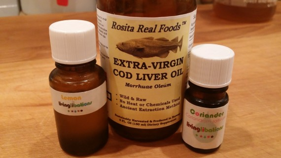 Essential oil + cod liver oil. Healthy skin and teeth! Immune boost.