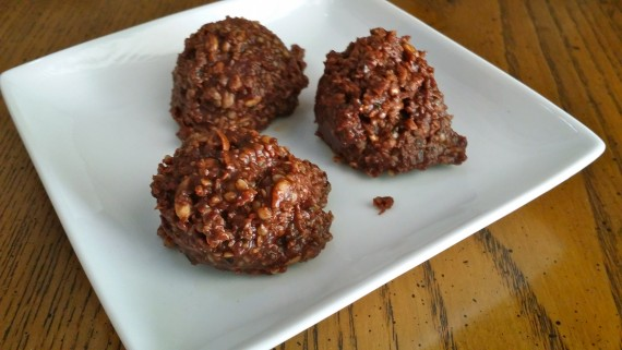 Chocolate Protein Cookies (almost paleo)