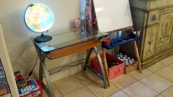 Kamea's standing desk.