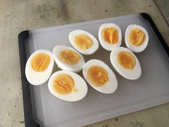 I almost want to eat these as is and bypass the whole Deviled Egg thing.