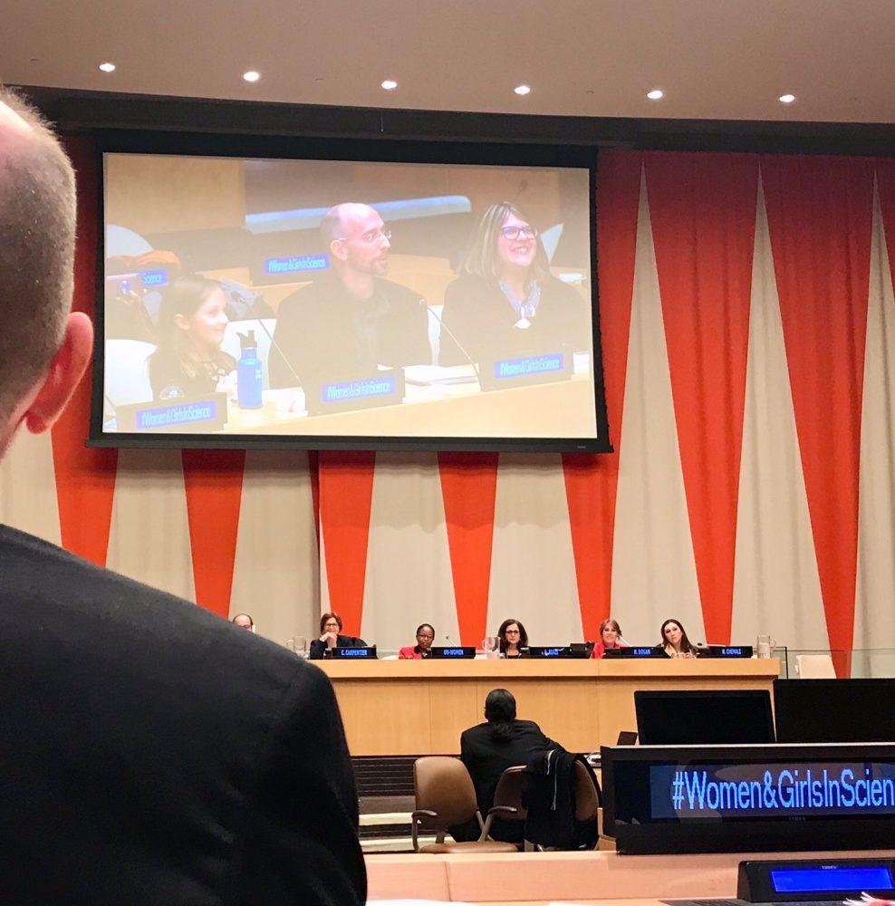 Pam, Greg, Kamea at United Nations