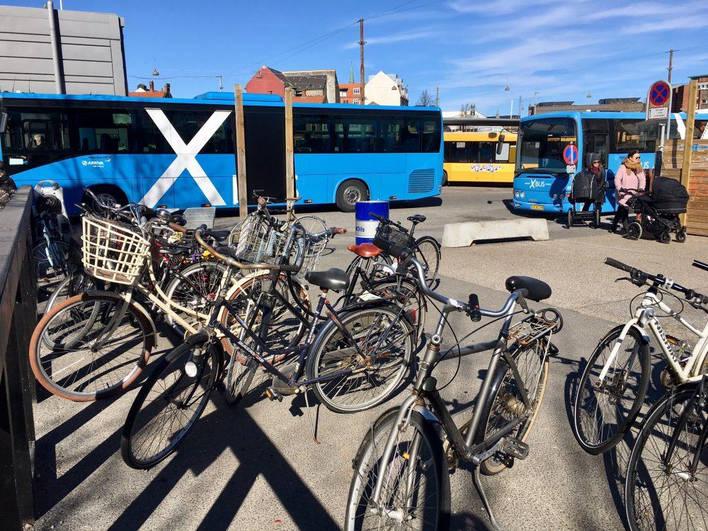 Bikes not locked in Denmark