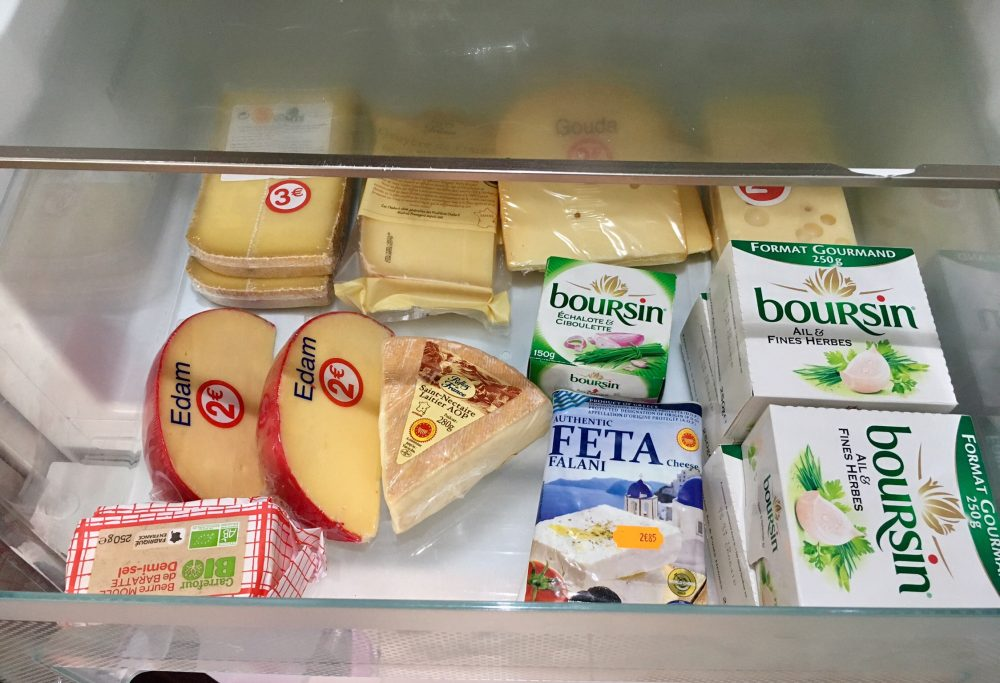 Drawer of cheese