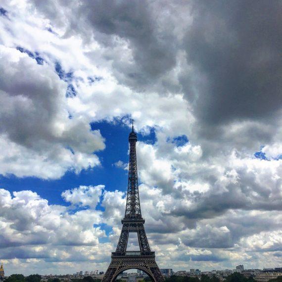 Eiffel Tower digital nomad family