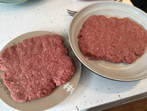 Raw ground beef patties Carnivore Diet Breakfast!