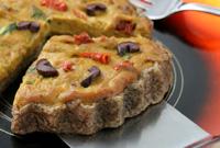 Raw Vegan Gourmet Italian Quiche Tarts