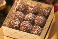 Raw Vegan Hazelnut Chocolate Snowball Cookies