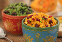 Raw Side Dishes - Flying Dragon Broccoli & Worldly Spiced Rice w/ Cranberries