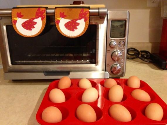 Silicone Muffin Pan to hard-bake my pasture raised organic eggs