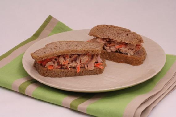 Tuna Carrot Salad Sandwich