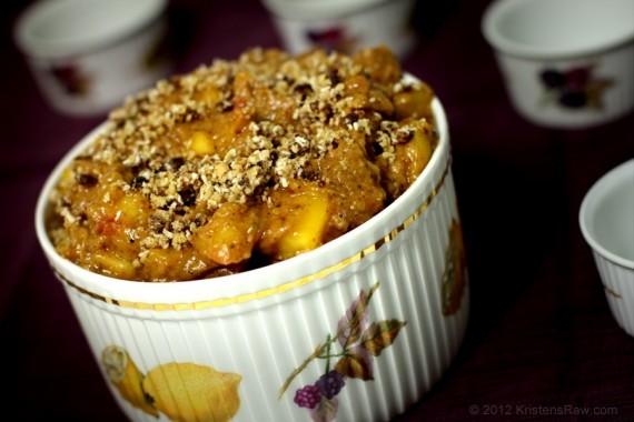 Vanilla Chai Peach Cobbler