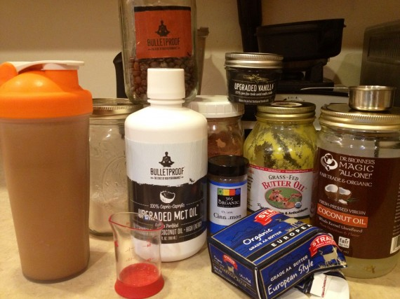 Morning Mocha Protein - looks like a lot of stuff, and I guess it is, but it still only takes a couple of minutes to make.