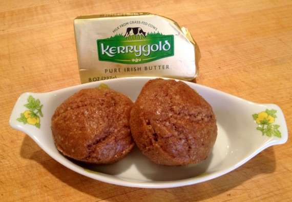 I prefer Straus European grass fed butters because of the higher fat content, but I'm at mom's and Kerrygold is what she had.
