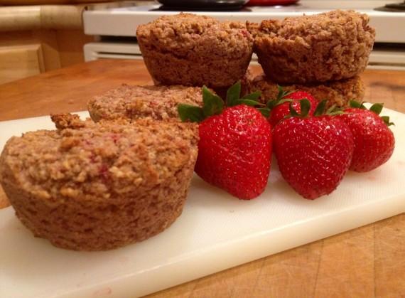 Strawberry Muffins (Paleo, Gluten Free)