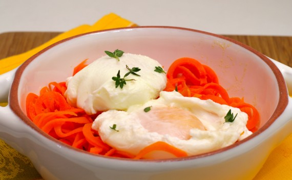 Carrot Nest Poached Eggs