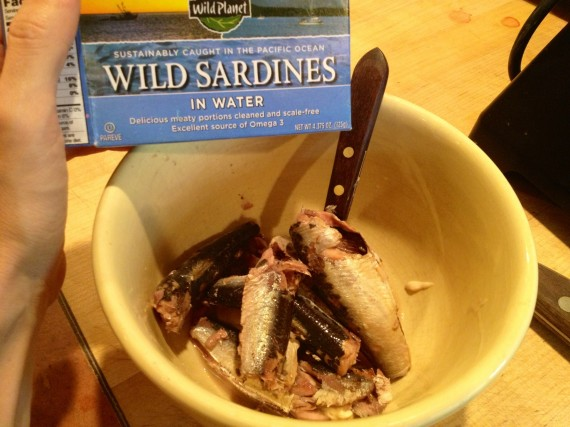 Wild Planet Sardines in water, but I also do the ones in oil.