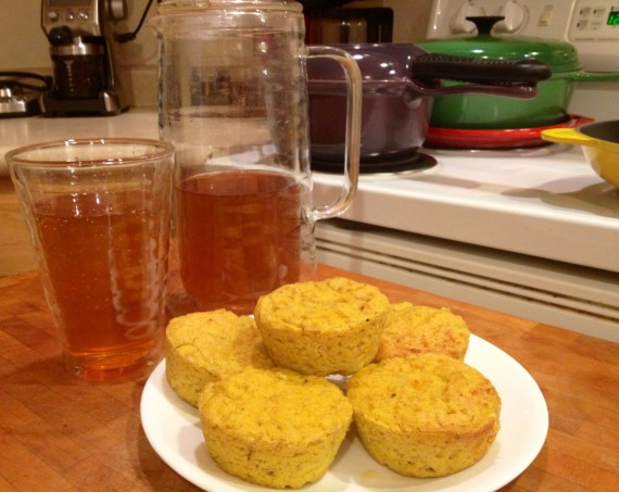 Sunshine Muffins and Organic Beauty Tea