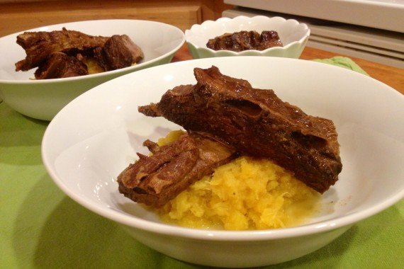 Spiced Bison Short Ribs on Acorn Squash