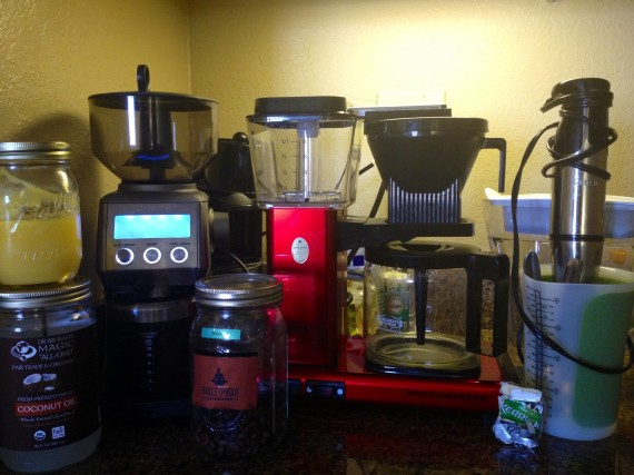 Breville Burr Grinder. Upgraded Coffee Beans. Technivorm Coffee Brewer. Immersion Blender. Butter. Water Filter.