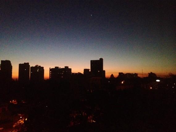 Sunrise and Venus in Guadalajara, Mexico