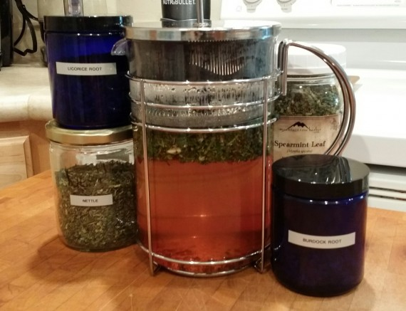 Big french press for big batches of herbal medicine