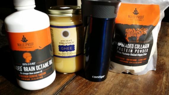 Ingredients for Travel Coffee Shakes (Bulletproof style)