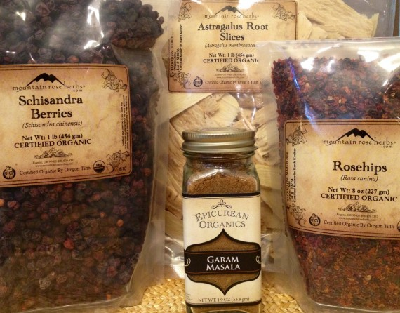 Bulk herbs and spices for herbal medicine.
