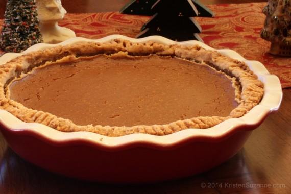 Pumpkin Pie (Gluten-free Grain-free Almost-Paleo)